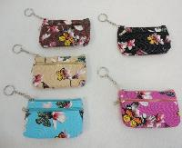 "5""x3."" Two-Comp Zippered Change Purse [Dimpled Butterfly]"